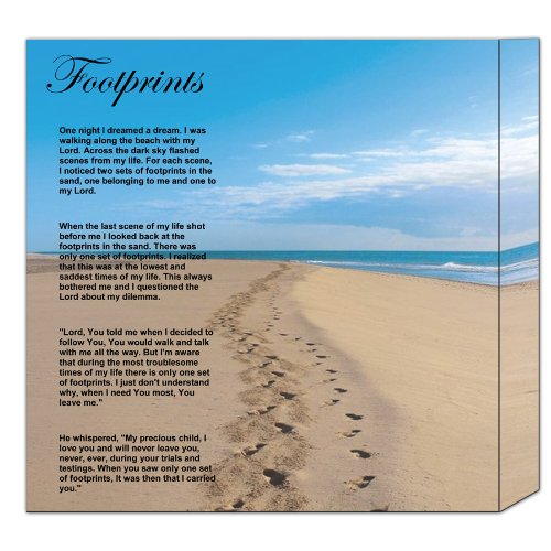 It is a graphic of Footprints in the Sand Poem Printable throughout version