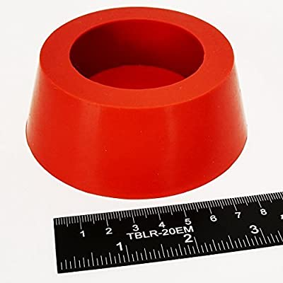 "High Temp Masking Supply 3.25"" x 4"" Silicone Rubber Tapered Stopper Plug for Powder Coating, Custom Painting, and More: Automotive"