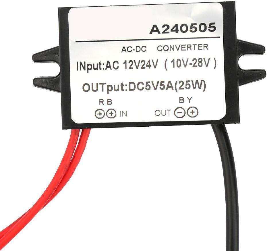 Ac 10 28v Auf Dc 5v Abwärtswandler Ac Dc Abwärtsstromversorgungsmodul Für Auto Bildschirm Überwachungskamera Lüfter 5a Baumarkt