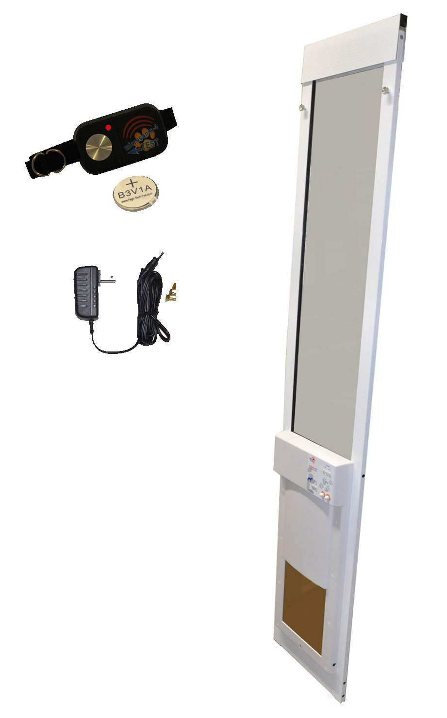 High Tech Pet - Medium Power Pet Sliding Glass Door for Dogs and Cats - Shorty