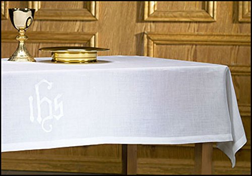 100% Linen IHS Altar Frontal by AT001