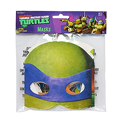 American Greetings Teenage Mutant Ninja Turtles (TMNT) Party Favors, Paper Party Masks (8-Count): Toys & Games