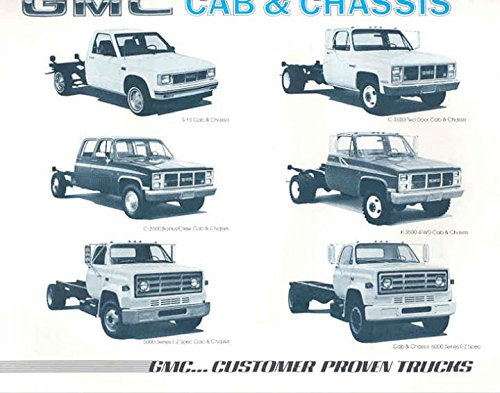 1985 GMC S15 C5000 C6000 C2500 C3500 K3500 Cab & Chassis Truck Brochure