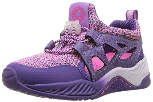 Jambu Baby  Girl's and Boy's Anthozoa Knitted Cut-Out Athletic Sneaker, Purple, 10 M US Toddler ()