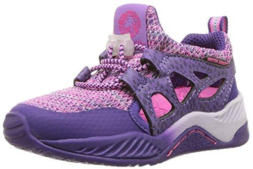 Jambu Unisex-Kids  Girl's and Boy's Anthozoa Knitted Cut-Out Athletic Sneaker, Purple, 1 M US Little Kid