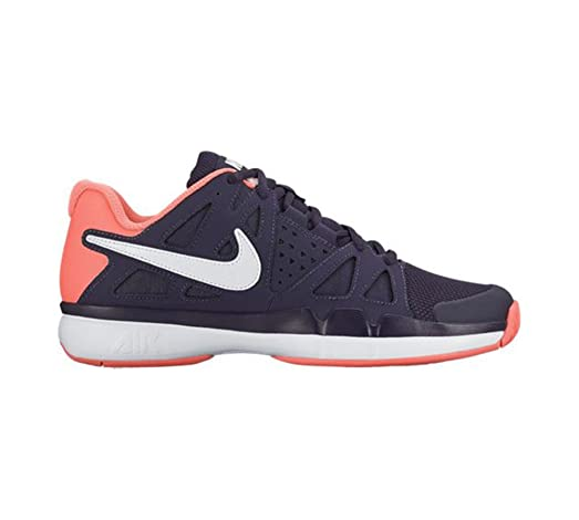 New Nike Women's Air Vapor Advantage Tennis Shoe Purple/Mango 9.5