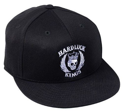 Amazon.com: HardLuck Kings HFLBLKGR-SM Ace High Flexfit Hat - Small/Medium / Black: Musical Instruments