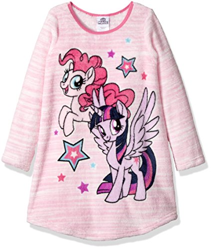 My Little Pony Little Girls' Magical Nightgown, Pinky Pie Plush, 4 (Mlp The Best Night Ever)