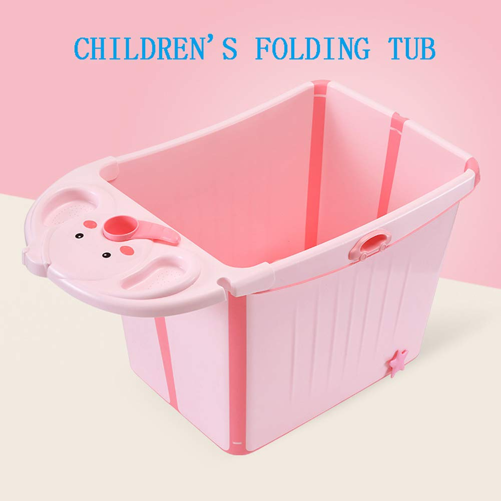 Baignoire pliante pour enfants, baignoire pour enfants, seau de baignade pour enfants, piscine pour bébé, baignoire pour bébé pouvant s'asseoir dans la maison pliée, plus baignoire de taille,Blue piscine pour bébé