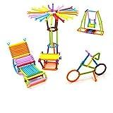 Pepperonz Colourful Plastic Building Stick Intelligence Sticks Educational Building Blocks Toys