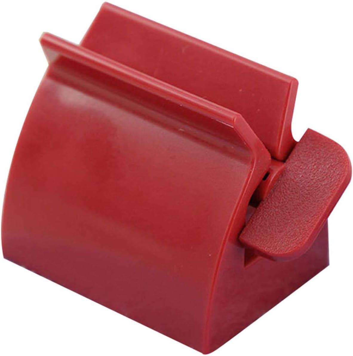 Guoxii Superior Tubo Carrete//Tubo Vac/ío//Tubo Esp/átula//Tubo Exprimidor Todo Exprimir y Vac/ío Tubos Blanco en Fino Estilo Pasta de Dientes Extrusor Azufaifo Rojo