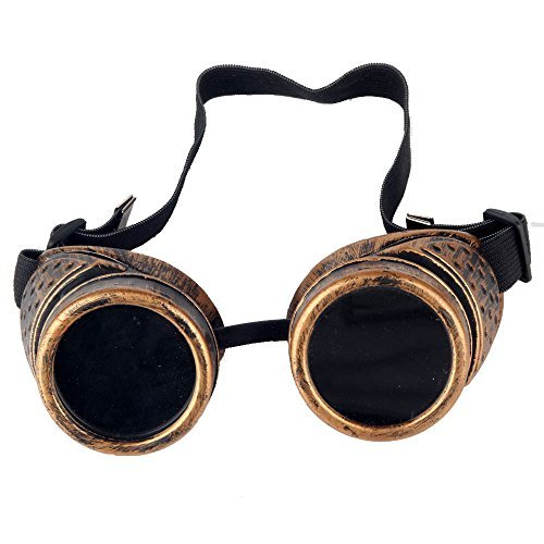 FUT Novelty Retro Welding Cyber Punk Gothic Cosplay Goggles Vintage Steampunk Goggles Glasses Costume Photo - Cyberpunk Sunglasses