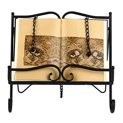 - Woopoo Metal Recipe Holder 2 Weighted Chains to Hold Pages in Place and a Kickstand for Durability Collapsible Storage is Light in Weight Support Book and Tablet Placement Cookbook Holder