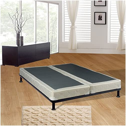 Mattress Solution Fully Assembled Long Lasting 4-Inch Split Box Spring/Foundation Set for Mattress, Queen, Size