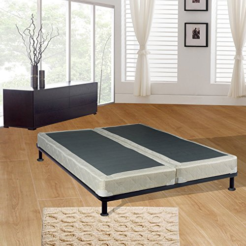 Mattress Solution 44-5/0-3LPS Fully Assembled Long Lasting 4-Inch Split Box Spring/Foundation Set for Mattress, Queen, Size ()