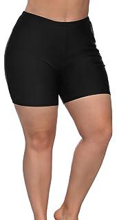 a85ecacca3 Amazon.com: anfilia Women Plus Size Swim Shorts Boyleg Swimsuit ...