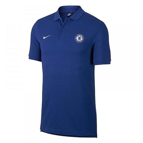 2017-2018 Chelsea Nike Core Polo Shirt (Blue)