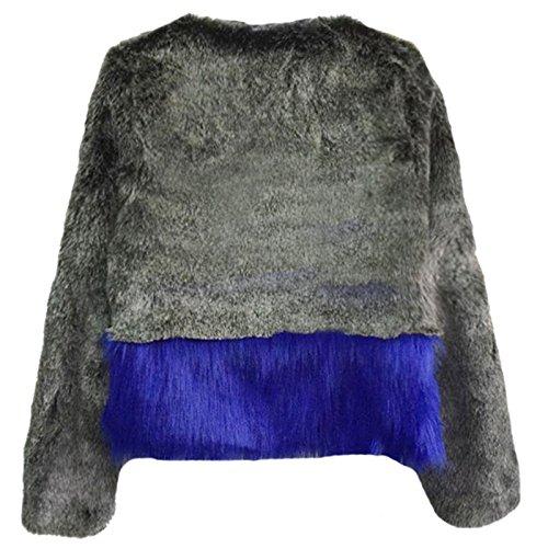 VLUNT veste de fourrure d'hiver veste de manteau de la veste des femmes Manteau Parka en fausse fourrure
