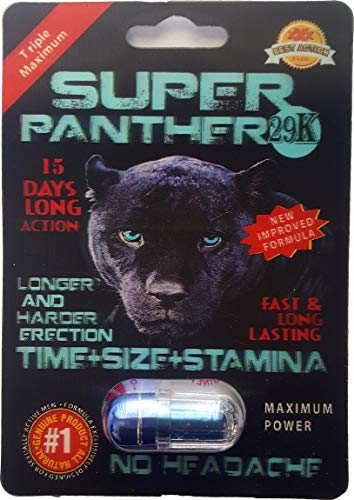 New Arrival - Super Panther 29K. More Power - Time Size Stamina - (24 Pack) (Panther Pill)