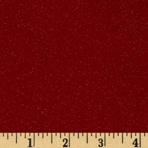 Santee Print Works Merry Christmas Glitter Red Fabric by The - Red Christmas Fabric