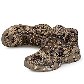 Amazon.com: Lessonmart Camouflage Military Boots Men Shoes Winter Warm Safety Shoes Windproof Men Boots Antis Snow Boots Flat Zapatos de Hombre: Kitchen & ...