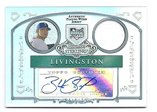 BOBBY LIVINGSTON 2006 Bowman Sterling Prospects #BL REFRACTOR PARALLEL AUTOGRAPH JERSEY Rookie Card RC #084 of only 199 Made! Seattle Mariners Baseball