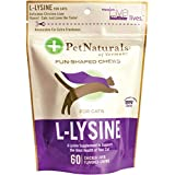 Pack of 1 x Pet Naturals of Vermont L-Lysine for Cats Chicken Liver - 60 Chewables