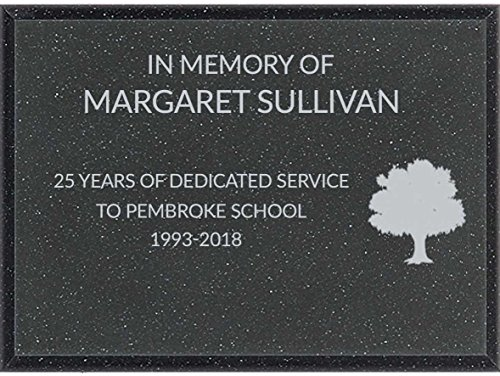 Dinn Trophy Personalized Outdoor Garden Memorial Plaque