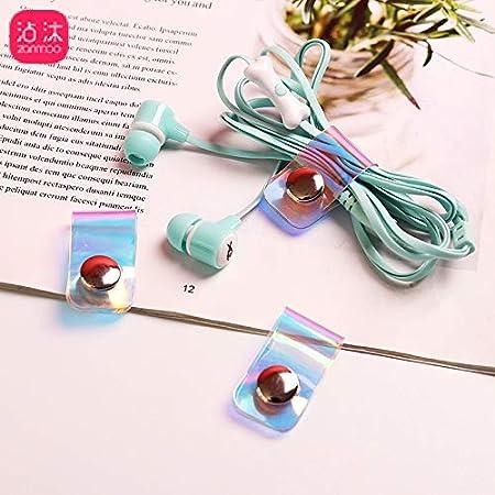 3Pcs Linie Speicher Clip Laser Snap-Taste Winder Tragbare Kopfh/örer Datenkabel Buckle Storage Rack Organizer Fest Fit Kabel-Draht-Clips