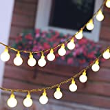 100 LED 36ft/11m Warm White Globe String Lights with Bulbs for Indoor/Outdoor Commercial Decor, Gardens, Wedding, Christmas Party, UL Listd   Feature:  Light color: Warm white  Cable color: Transparent  Lighted Length: 36ft  Lead wire length : 5feet ...
