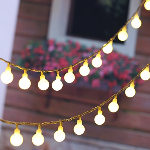 MineTom 100 LED 36 ft Globe String Lights, Warm White