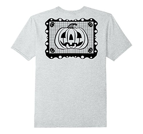 Mens Chicano Halloween Pumpkin Mexican Papel Picado T-shi...
