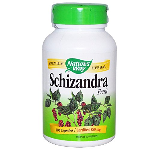 Natures Way Schizandra Fruit Vegetarian Capsule, 100 ct