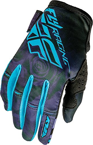 Fly Kinetic Gloves - Fly Racing Unisex-Adult Kinetic Ladies Gloves (Purple/Blue, X-Small)