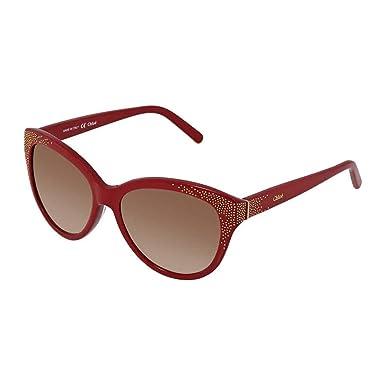 873aa248e9c9 Amazon.com  Sunglasses CHLOE CE 627 S 613 RED  Clothing