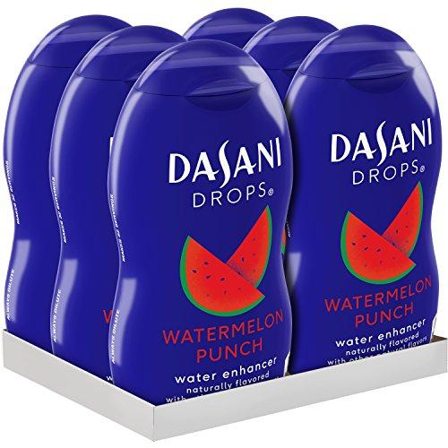 DASANI Drops Watermelon Punch Water Flavor Enhancer Drink Mix, 1.9 Fl. Oz, 6 Pack