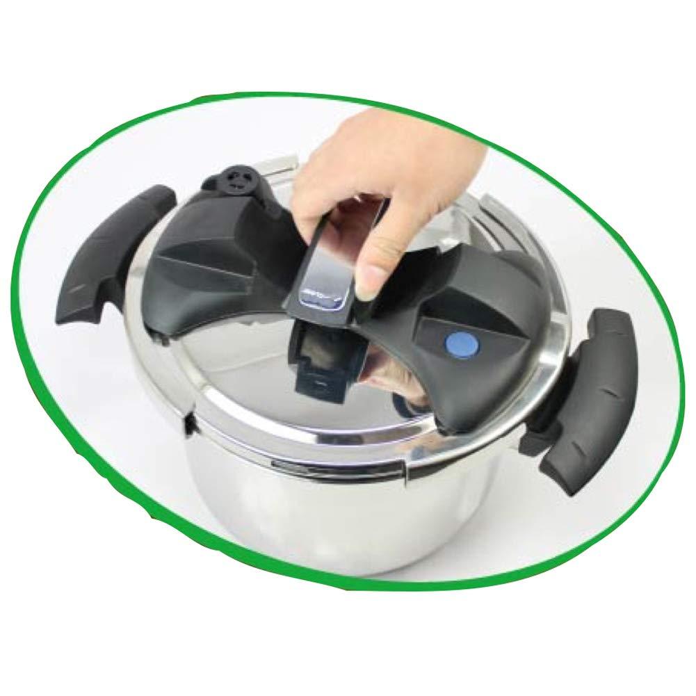 4 Litri BAKAJI Home Pentola Pressione Acciaio Inox Antiaderente Chiusura Girevole con Sistema di Sicurezza e Indicatore di Cottura Adatti per Fornelli ad induzione