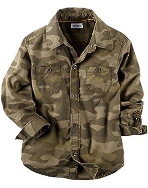 Carter's Boys Camo Button-Front Shirt, Green, 12m [Apparel]