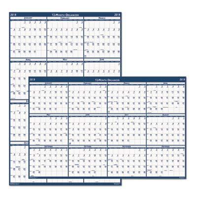 Doolittle Classic Wall Calendar - House of Doolittle 2016 Laminated Wipe Off Wall Calendar, 66