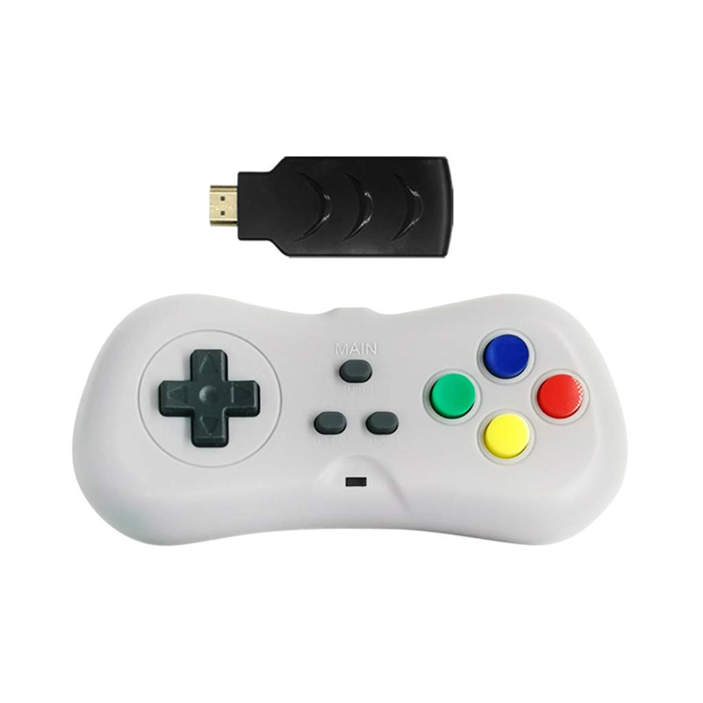CreazyBee 2.4G Wireless Game Controller Gamepad Built in 200 Games Plug Directly Into TV (Gray) by CreazyBee