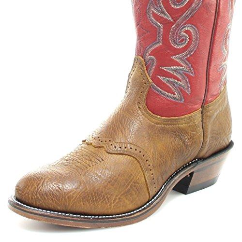 Boulet Mens Shoulder Old Town Deerlite Buckaroo 16 Stivali Da Cowboy Punta Rotonda - 9117 Marrone