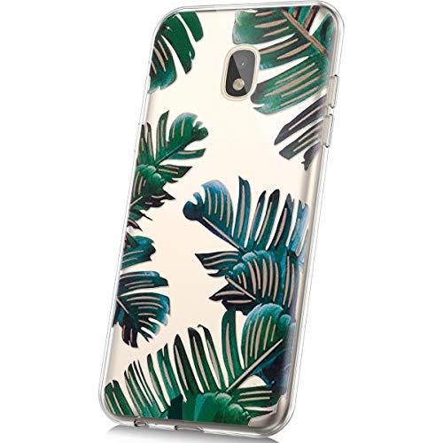 - PHEZEN Compatible With Samsung Galaxy J7 2018 Case,Galaxy J7 Refine Case,Galaxy J7 Star Case,J7 Crown Case,J7 Aura Case,Crystal Clear TPU Bumper Silicone Phone Case for Galaxy J7 2018 (Green Leaf)
