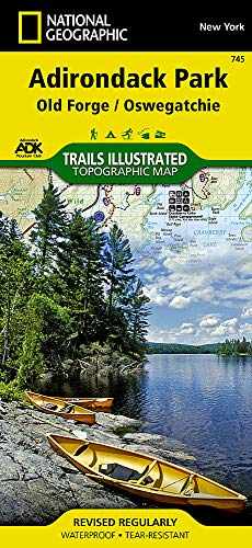 Old Forge, Oswegatchie: Adirondack Park (National Geographic Trails Illustrated Map)