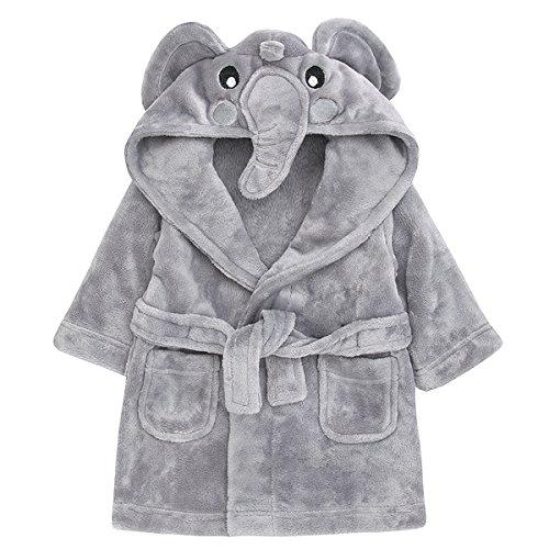 Babytown Cute Baby Velvety Soft Hooded Animal Dressing Gown