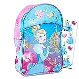 Disney Princess Cinderella Toddler Preschool Backpack, 11'' (Cinderella School Supplies)