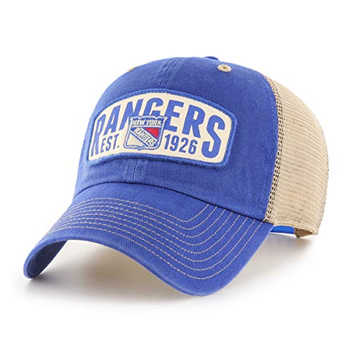 OTS NHL New York Rangers Male Woodford Challenger Adjustable Hat, Royal, One Size ()