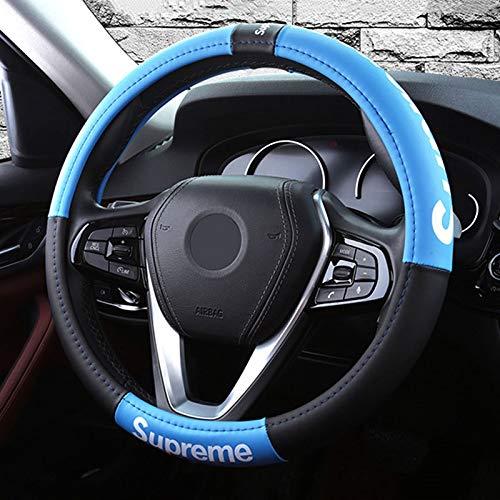 colore : Blu-38CM Coprivolante Movimento moda Copertura Di Volante Universale,Auto Accessori Pelle Microfibra 38CM//15in.