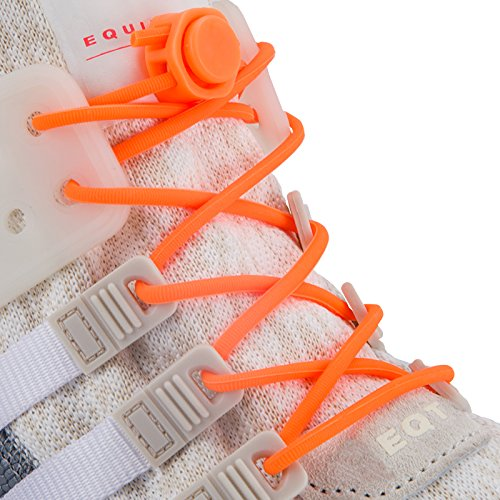 INMAKER No Tie Shoelaces for Adults and Kids, Elastic Tieless Shoe Laces for Sneaker, Silicone Laceless Shoelaces Lock