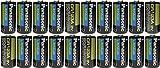 Panasonic CR123A Lithium 3V Photo Lithium Batteries, 0.67'' Dia x 1.36'' H (17.0 mm x 34.5 mm), black, Gold, Blue (Pack of 20)