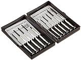 Trisonic TRISONIC11 Piece Precision Screwdriver Kit Phillips/Cross & Flat/Slot/Slotted Head Set, Small, 11 Piece